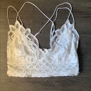Free People Adella Lace Bralette by FP in white